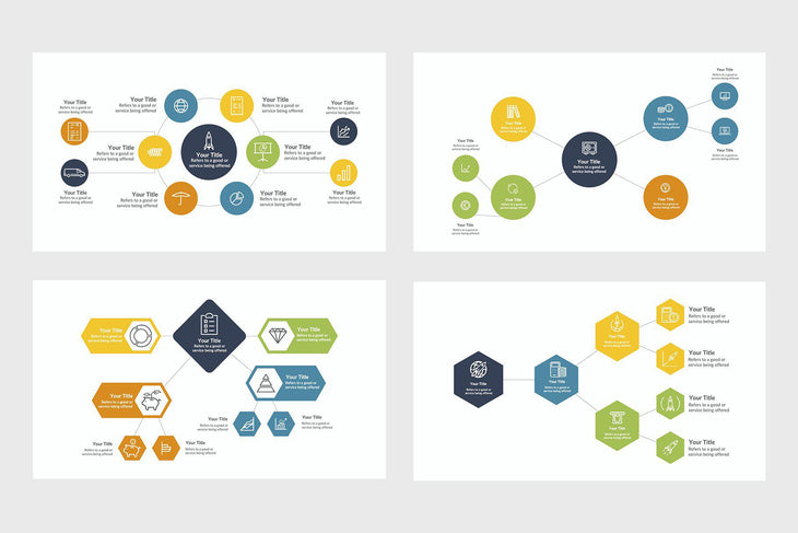 Mindmap Diagrams-PowerPoint Template, Keynote Template, Google Slides Template PPT Infographics -Slidequest