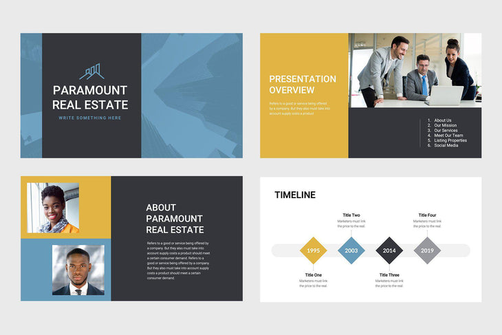 Paramount Real Estate Keynote Template
