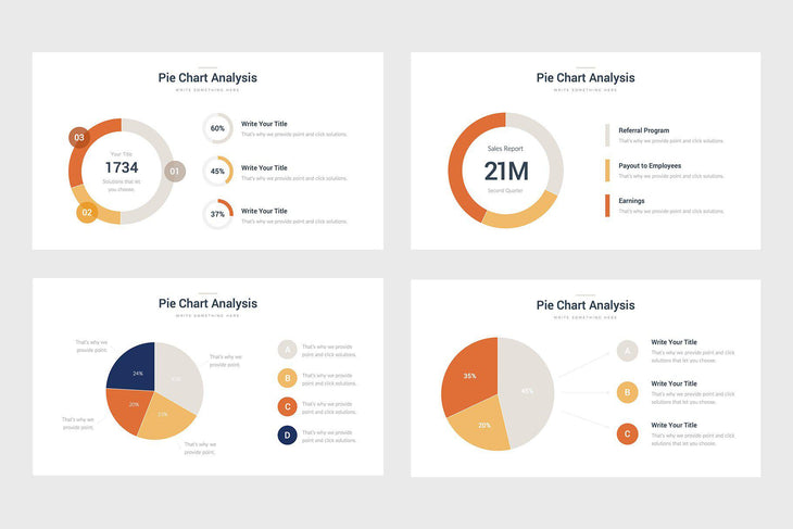 Pie Charts-PowerPoint Template, Keynote Template, Google Slides Template PPT Infographics -Slidequest