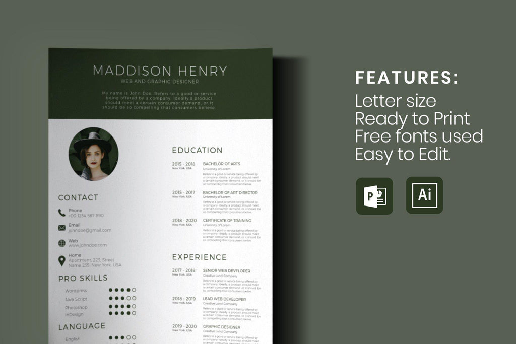 Pix Resume Template