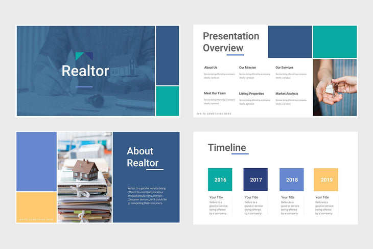 Realtor Real Estate PowerPoint Template-PowerPoint Template, Keynote Template, Google Slides Template PPT Infographics -Slidequest