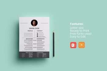 Rhodes Resume Template-PowerPoint Template, Keynote Template, Google Slides Template PPT Infographics -Slidequest