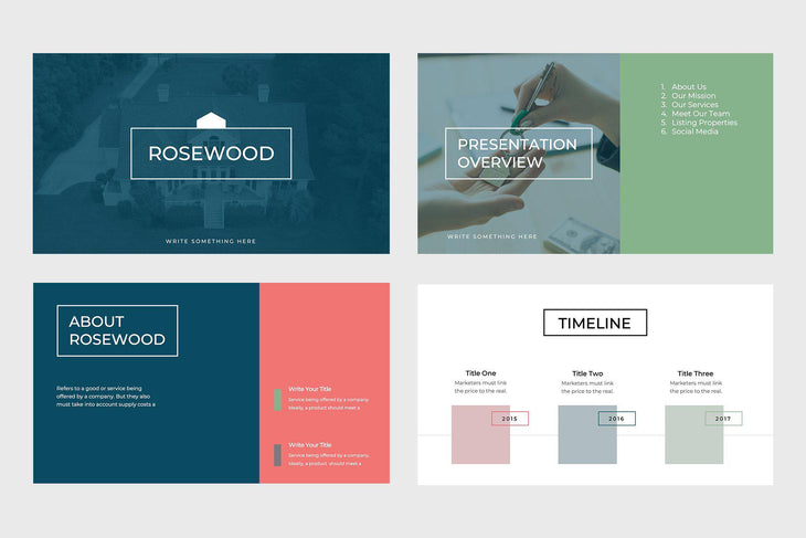 Rosewood Real Estate Google Slides-PowerPoint Template, Keynote Template, Google Slides Template PPT Infographics -Slidequest