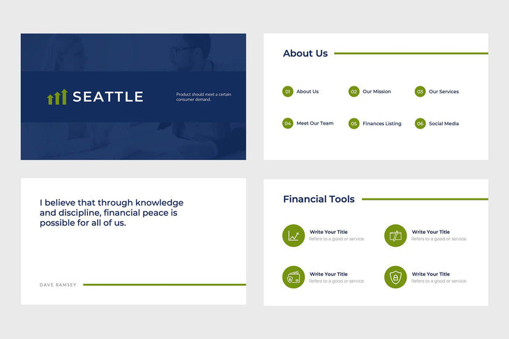 Seattle Finance PowerPoint Template
