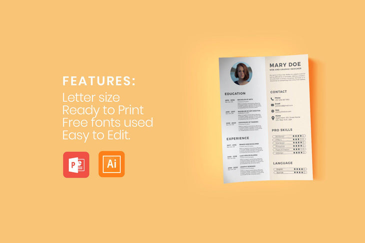Sefiros Resume Template-PowerPoint Template, Keynote Template, Google Slides Template PPT Infographics -Slidequest