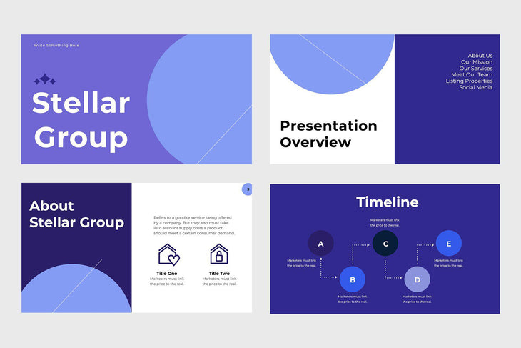 Stellar Group Real Estate Google Slides