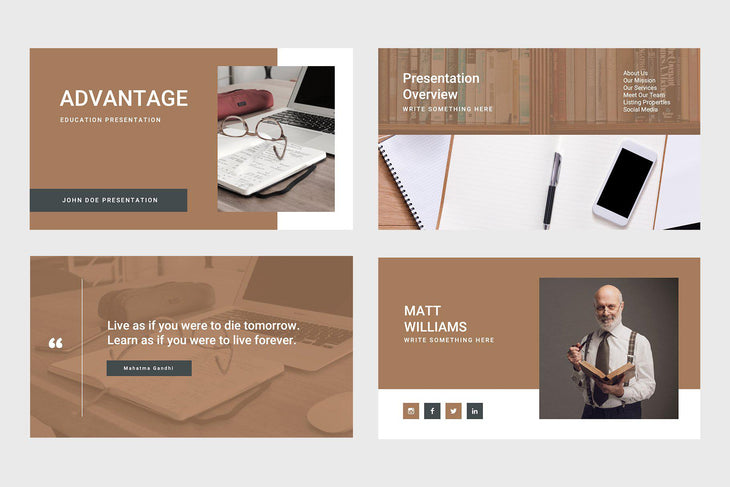 Advantage Education Keynote Template