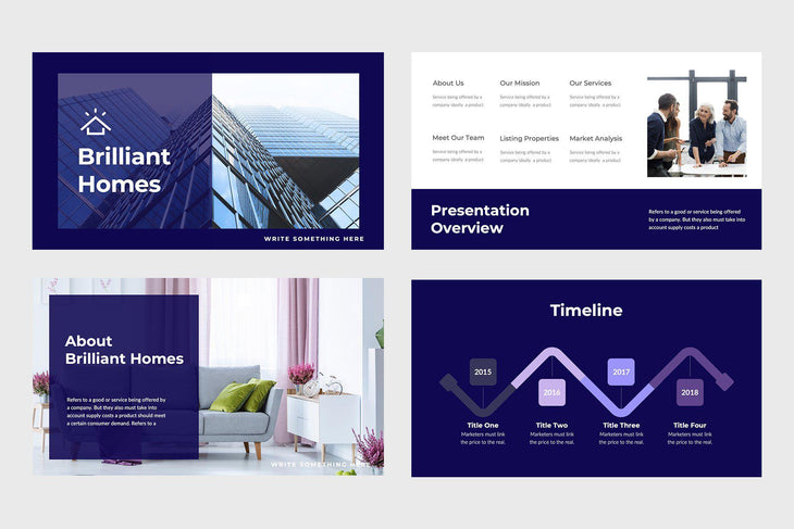 Brilliant Homes Real Estate Keynote Template