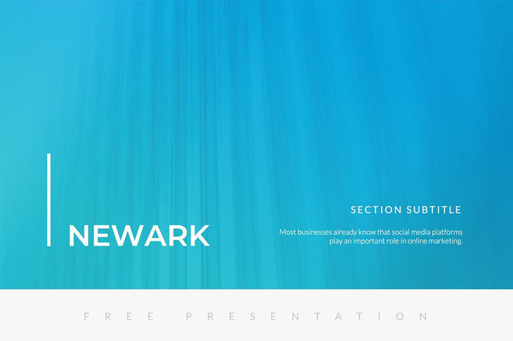 Newark Free Presentation Template