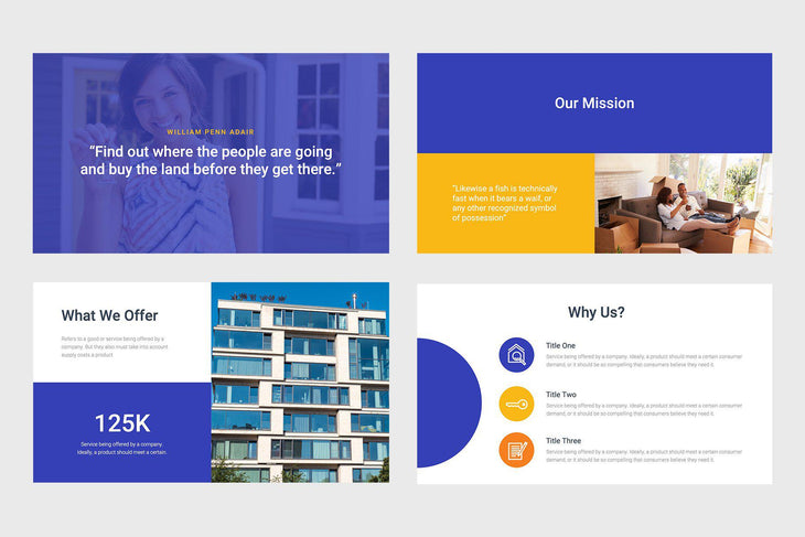 Fountain Corp Real Estate PowerPoint Template
