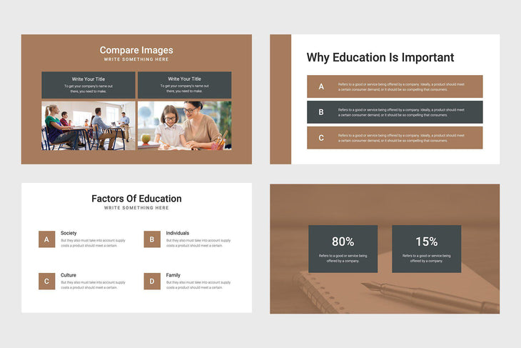 Advantage Education PowerPoint Template