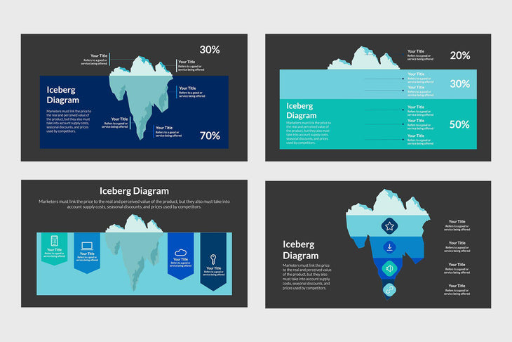 Iceberg Diagram Infographics
