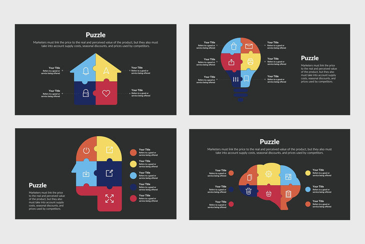 Puzzle Infographics-PowerPoint Template, Keynote Template, Google Slides Template PPT Infographics -Slidequest