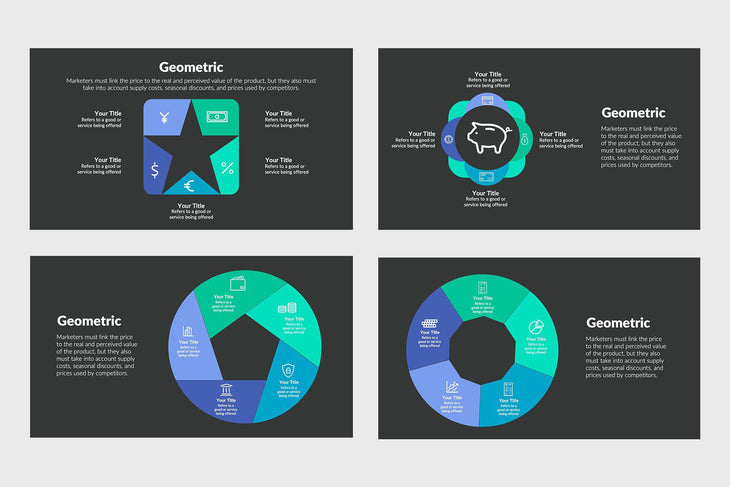Geometric Infographics for Presentations