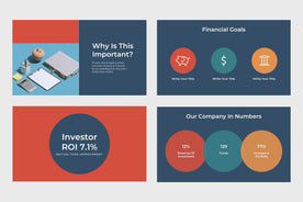 Financial Corp Finance PowerPoint Template