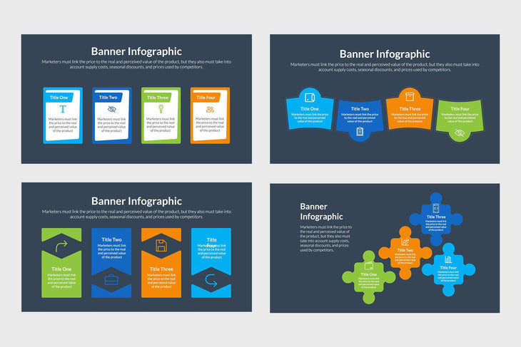 Banner Infographics Vectors and Presentations
