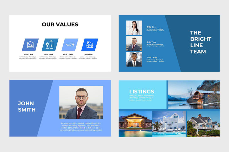 Brightline Real Estate PowerPoint Template