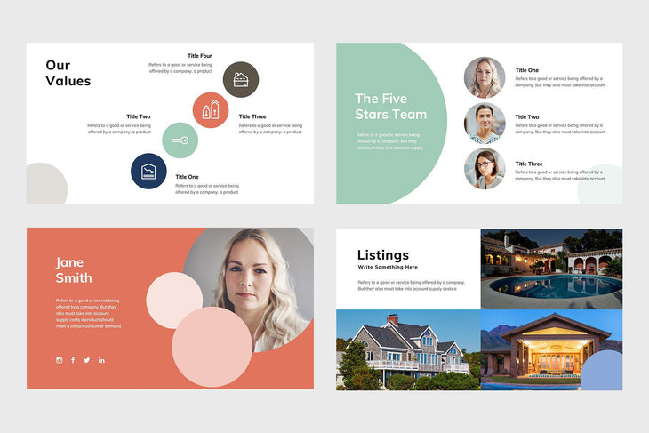 Five Stars Real Estate Google Slides-PowerPoint Template, Keynote Template, Google Slides Template PPT Infographics -Slidequest
