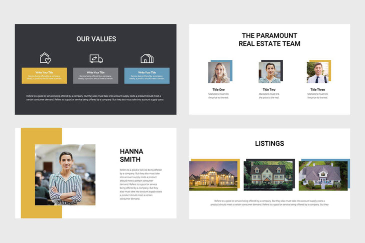 Paramount Real Estate Google Slides
