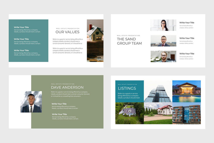 Sand Group Real Estate PowerPoint Template