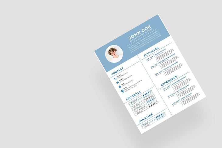 Santorini Resume Template
