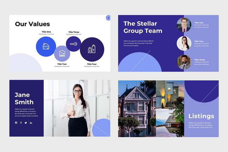 Stellar Group Real Estate Keynote Template