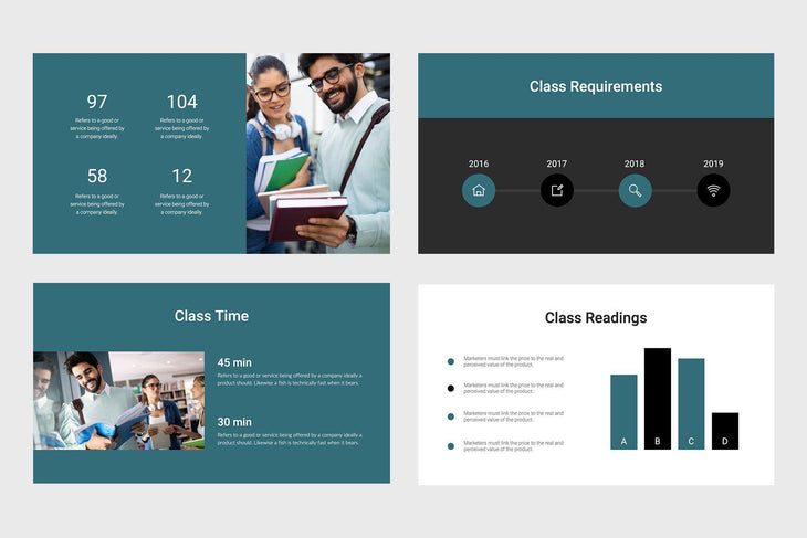 Think Education Keynote Template-PowerPoint Template, Keynote Template, Google Slides Template PPT Infographics -Slidequest