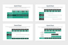 Load image into Gallery viewer, PowerPoint Gantt Chart Template - TheSlideQuest