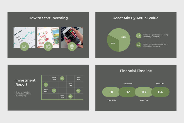 Financial Group Finance PowerPoint Template