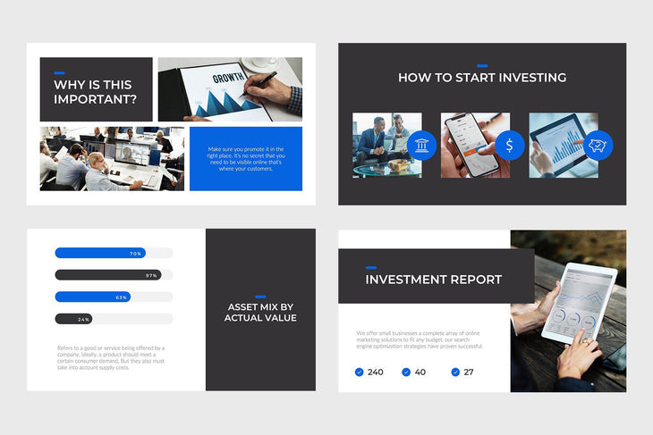 Investments Finance PowerPoint Template