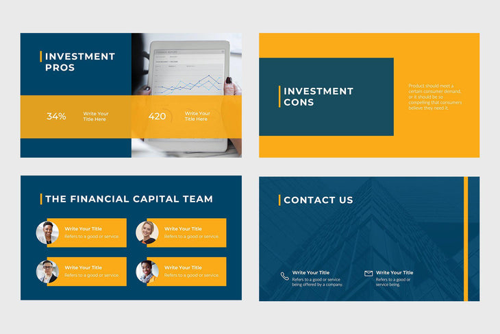 Financial Capital Finance PowerPoint Template