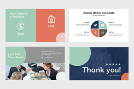 Five Stars Real Estate PowerPoint Template-PowerPoint Template, Keynote Template, Google Slides Template PPT Infographics -Slidequest
