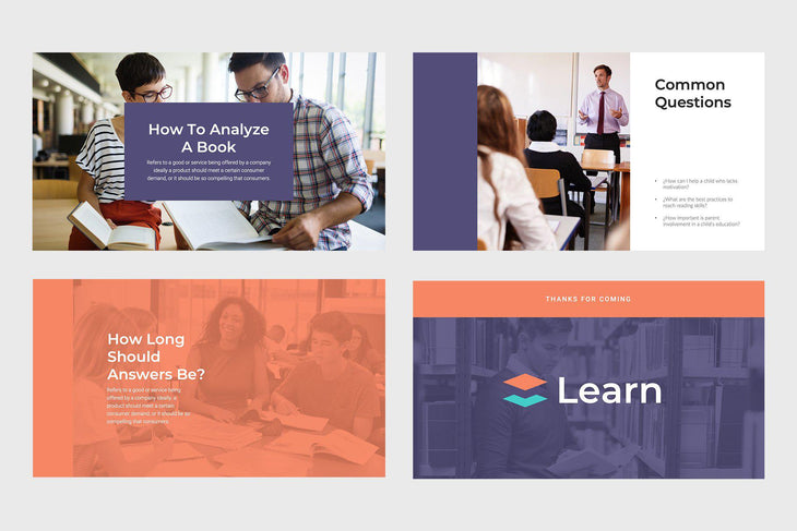 Learn Education PowerPoint Template-PowerPoint Template, Keynote Template, Google Slides Template PPT Infographics -Slidequest