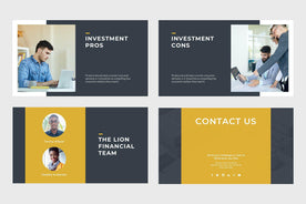 Lion Finance PowerPoint Template-PowerPoint Template, Keynote Template, Google Slides Template PPT Infographics -Slidequest