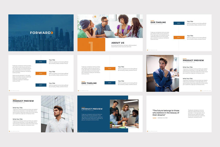 Forward Business PowerPoint Template
