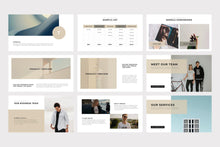 Load image into Gallery viewer, Brown Minimal PowerPoint Template - TheSlideQuest