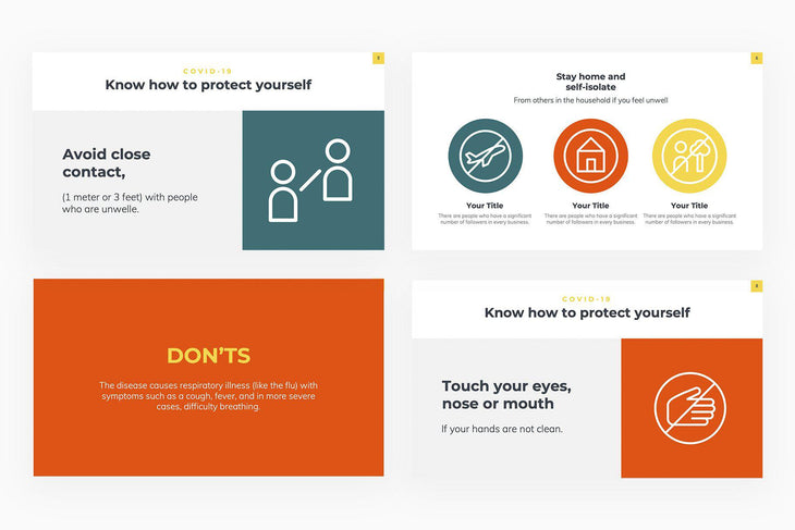 COVID 19 Dos and Donts Presentation Template