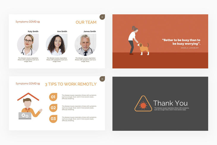 Symptoms COVID 19 Presentation Template-PowerPoint Template, Keynote Template, Google Slides Template PPT Infographics -Slidequest