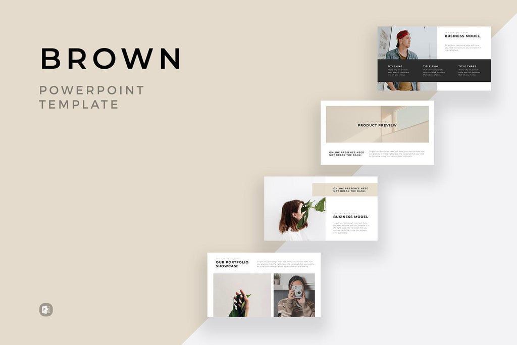 Brown Minimal Powerpoint Template Slidequest