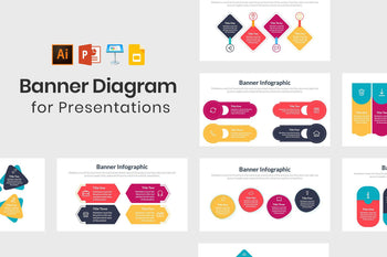 Banner Diagrams for Presentations-PowerPoint Template, Keynote Template, Google Slides Template PPT Infographics -Slidequest