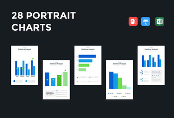 Portrait Bar Charts-PowerPoint Template, Keynote Template, Google Slides Template PPT Infographics -Slidequest