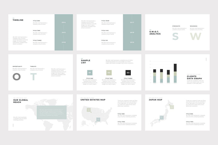Quattro Minimal PowerPoint Template - TheSlideQuest