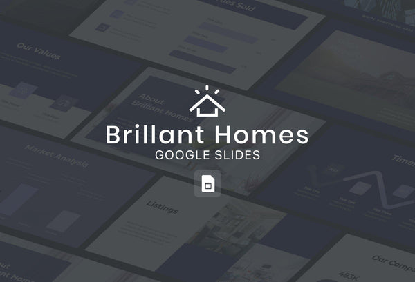 Brilliant Homes Real Estate Google Slides