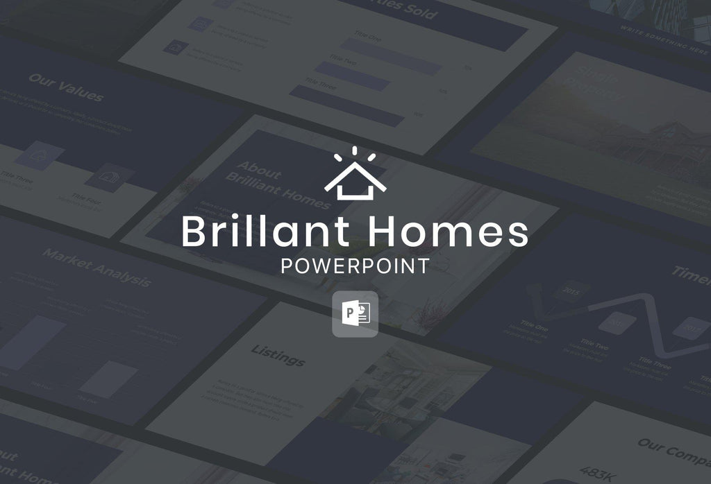 Brilliant Homes Real Estate PowerPoint Template