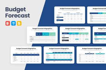 Budget Forecast Infographics-PowerPoint Template, Keynote Template, Google Slides Template PPT Infographics -Slidequest
