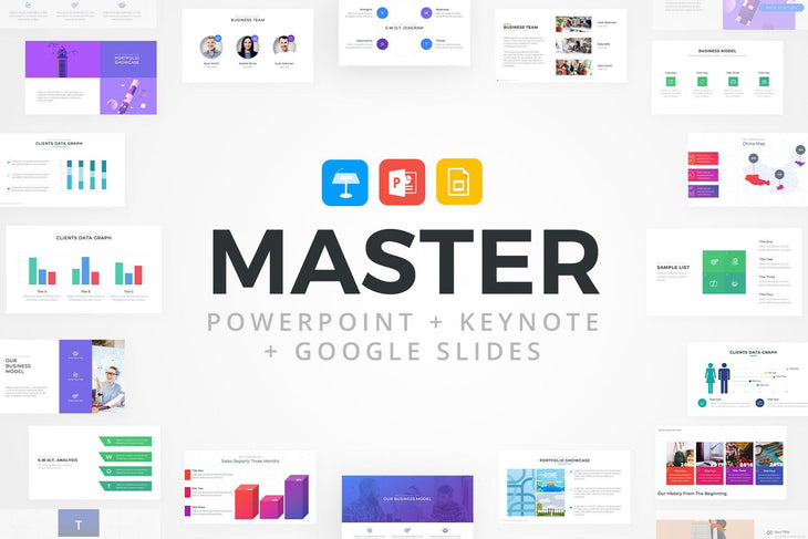 MASTER PowerPoint Keynote Google Slides Bundle