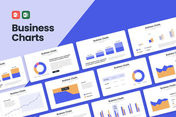 Business Charts - PowerPoint Template