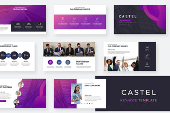 Castel Keynote Template - TheSlideQuest