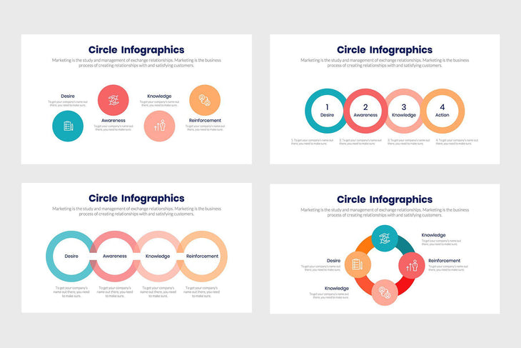 Circle Infographics Template PowerPoint Keynote Google Slides PPT KEY GS
