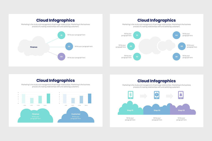 Cloud Infographics-PowerPoint Template, Keynote Template, Google Slides Template PPT Infographics -Slidequest